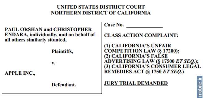 Apple Class Action