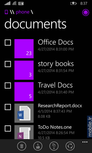 File Manager for Windows Phone - فایل منیجر ویندوز فون
