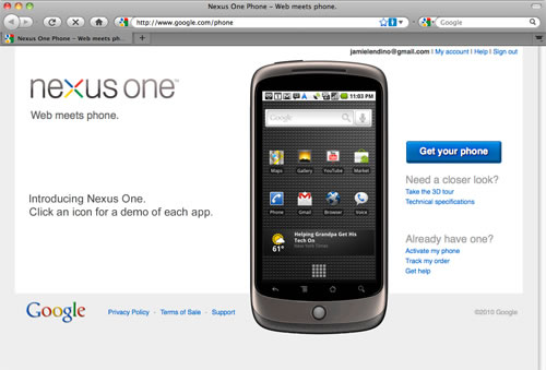 اچ تی سی - HTC Google Nexus One