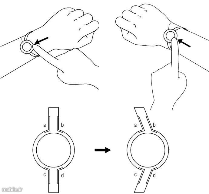 samsung smartwatch strap and flexible display patent applications
