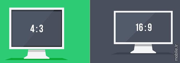 different monitors aspect ratio
