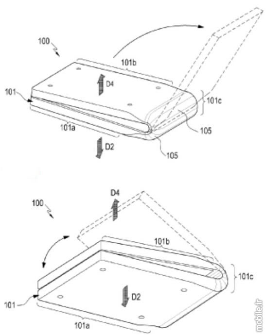 Samsung Foldable Smartphone With New Hinge Design Patent