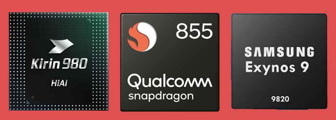 Snapdragon 855 Kirin 980 and Exynos 9820