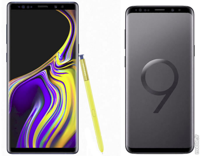 Samsung Galaxy Note9 and Galaxy S9