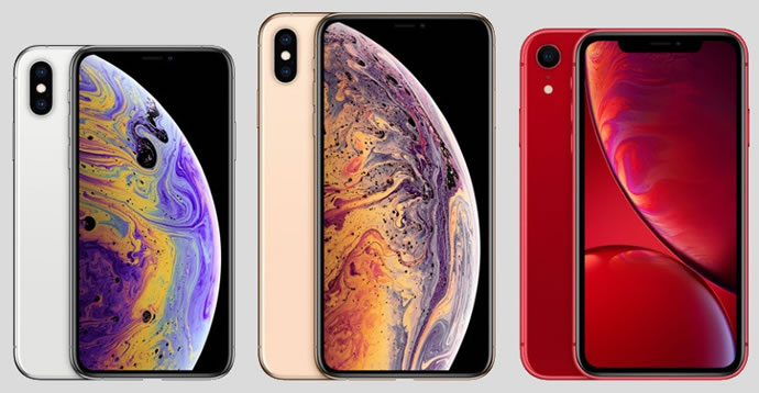 Apple iPhone XS XS Max and XR