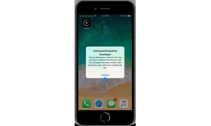 Tap30 Progressive Web App for iOS Users
