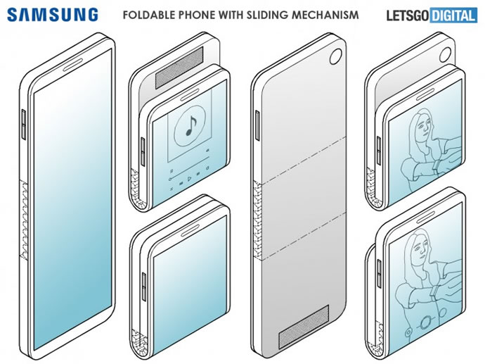 Samsung Vertically Folding Phone Patent